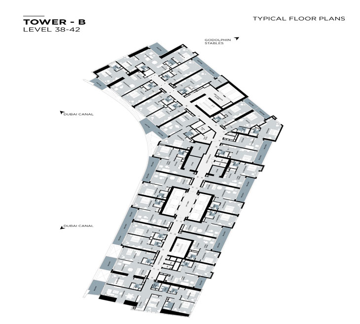 Typical Floor plan,Tower-B,Level-38-42