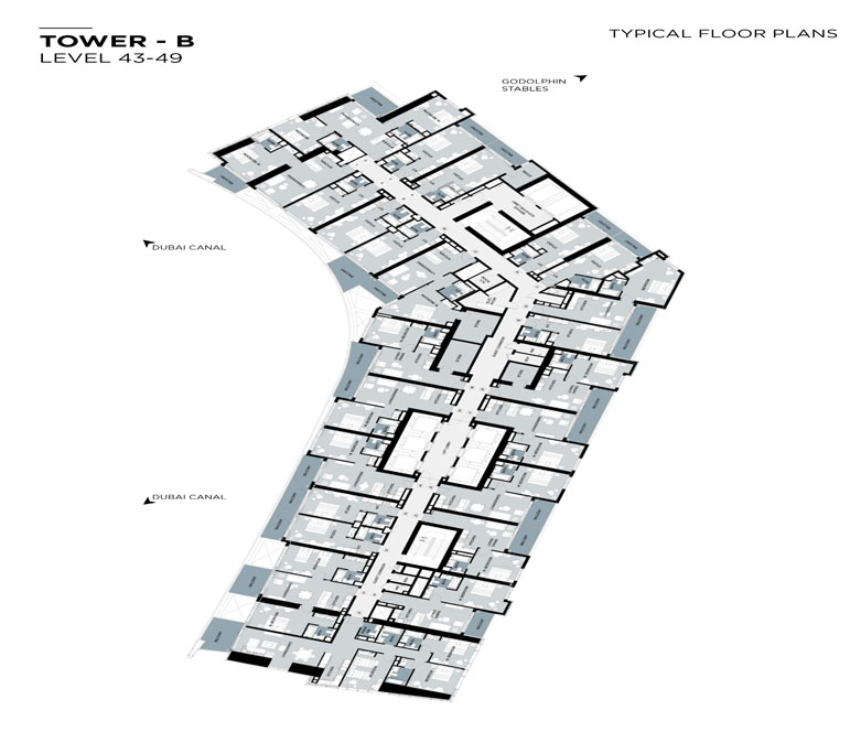 Typical Floor plan,Tower-B,Level-43-49
