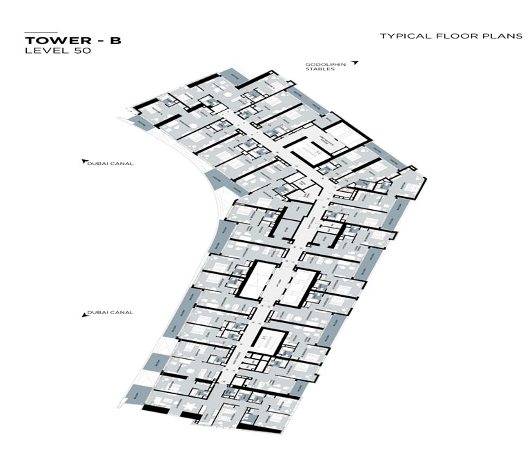 Typical Floor plan,Tower-B,Level-50