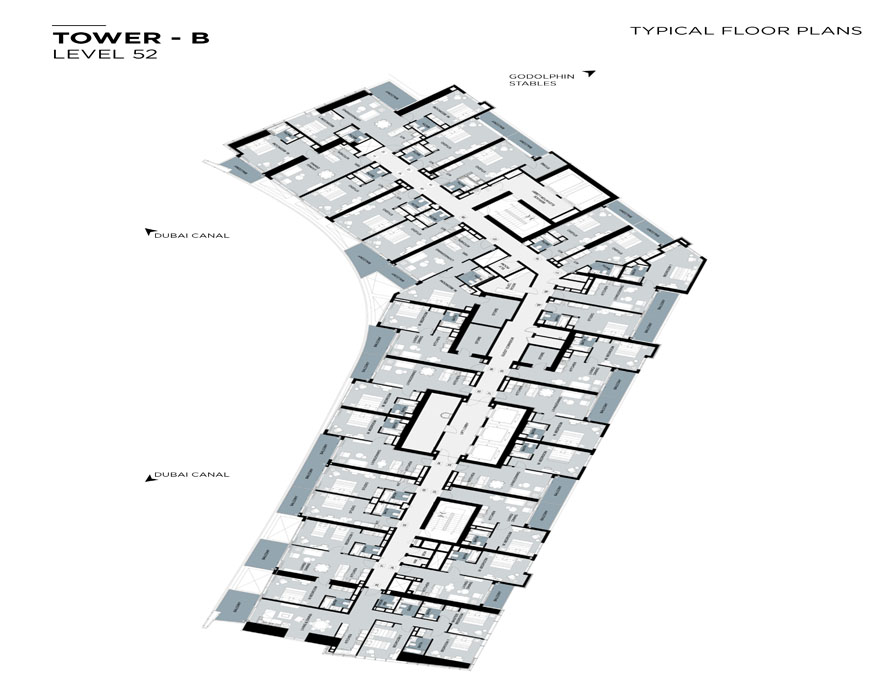 Typical Floor plan,Tower-B,Level-52