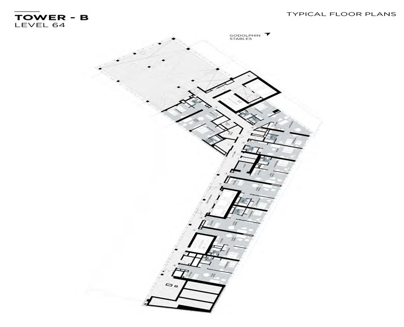 Typical Floor plan,Tower-B,Level-64