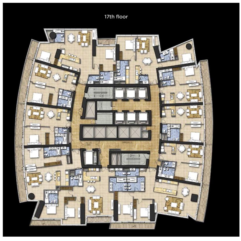 Typical Floor Plan, 17th Floor