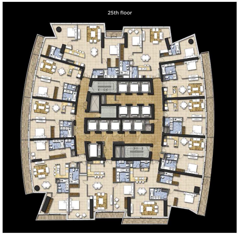 Typical Floor Plan, 25th Floor