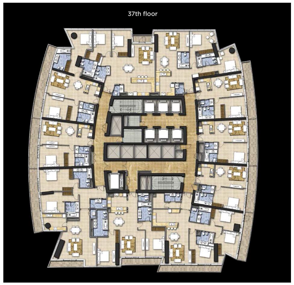 Typical Floor Plan, 37th Floor