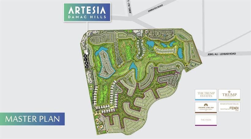 Damac Artesia :  Master Plan