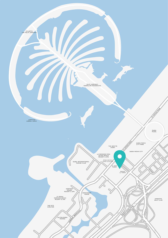 Marina Arcade Location Map