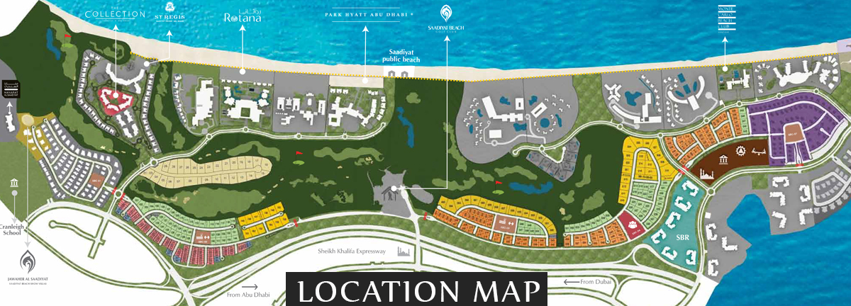 Saadiyat Beach Villas -  Location Plan