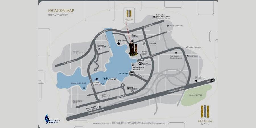 Marina Gate Residences Location Map