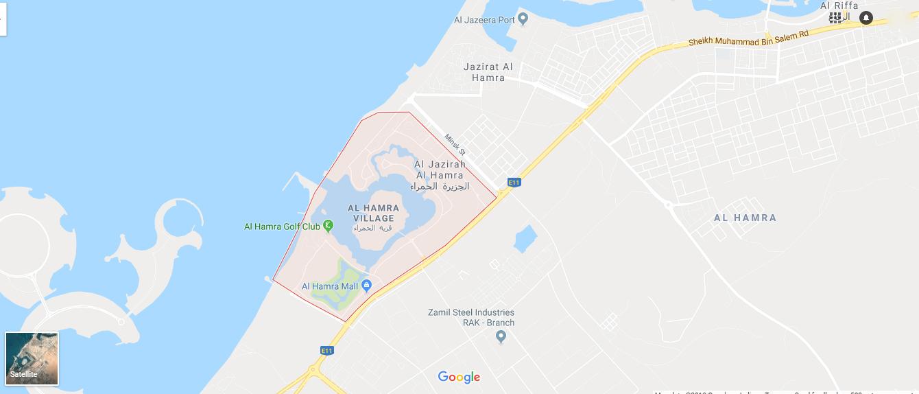 Royal Breeze Residences -  Location Plan