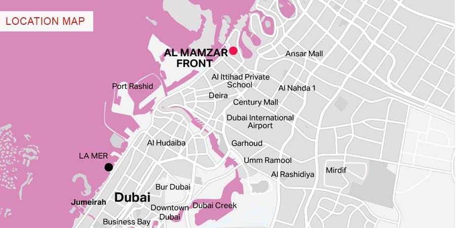 Al Mamzar Location Map