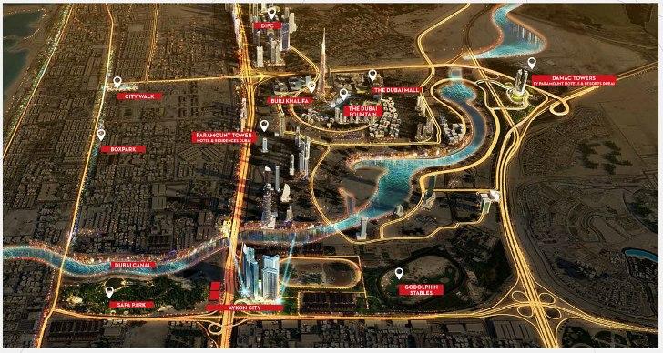 Aykon City Tower C Location Map
