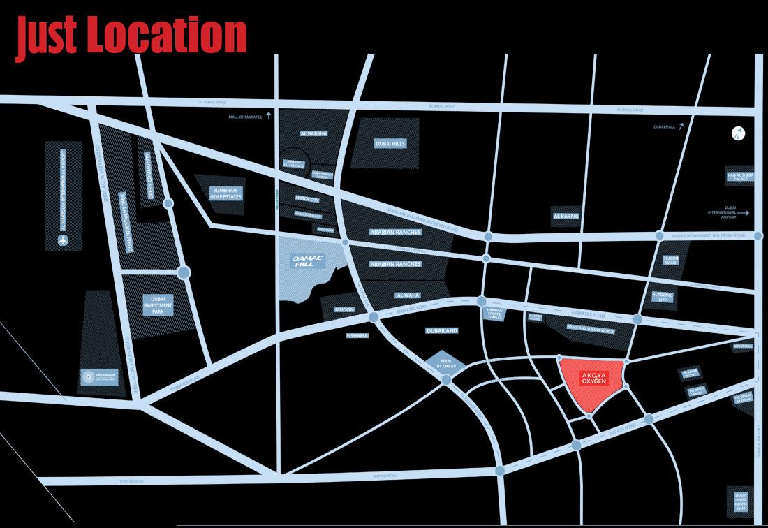 Just Cavalli Villas -  Location Plan