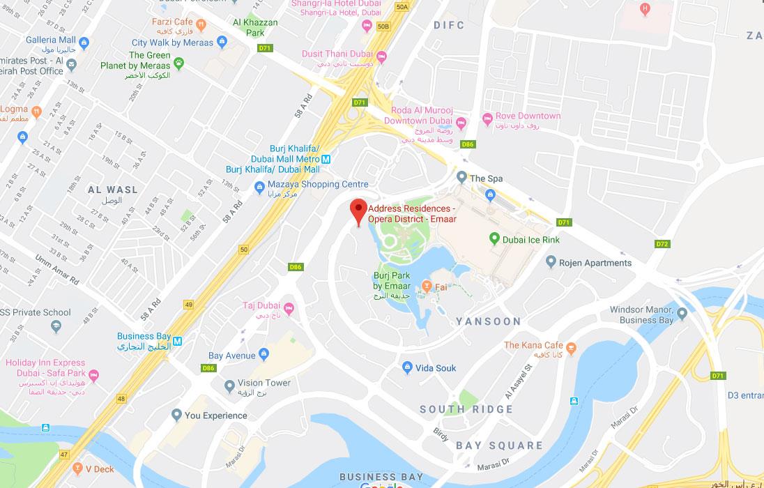 Address Opera Location Map