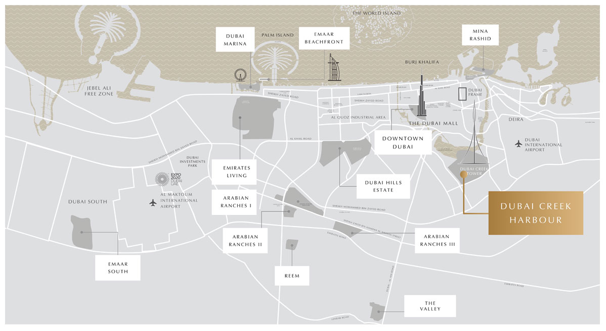 Creek Palace Location Map