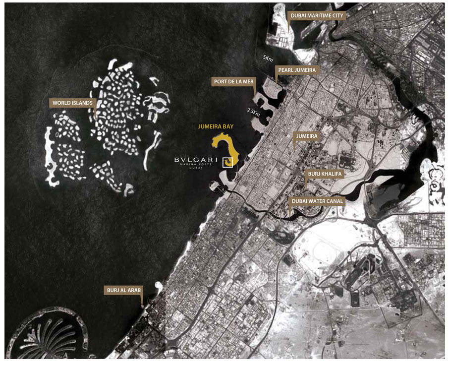 BVLGARI Marina Lofts Location Map