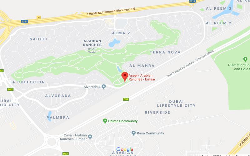 Aseel Villas Location Map