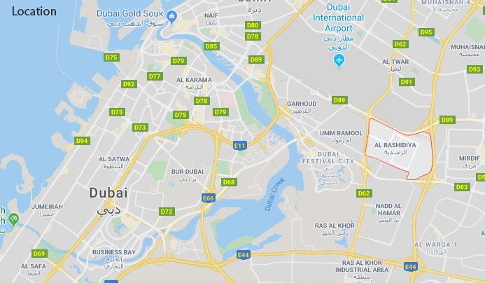 Al Fareej Courtyard Location Map