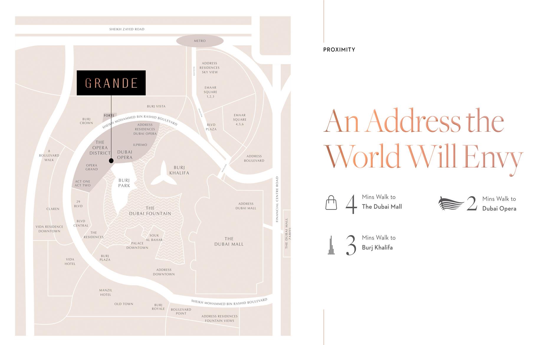 Grande Signature Residences Location Map