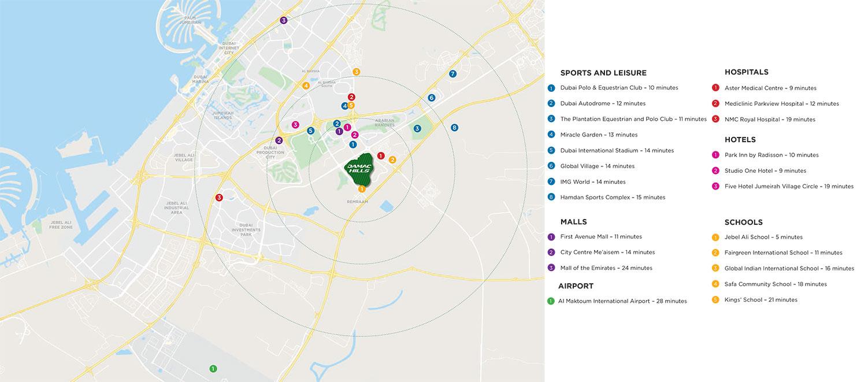 Melrose Villas Location Map