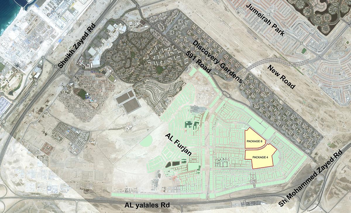 Al Furjan Villas Location Map