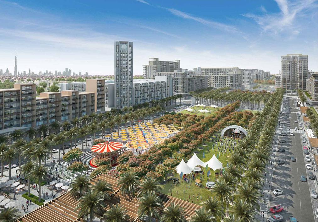 迪拜城市广场的风景