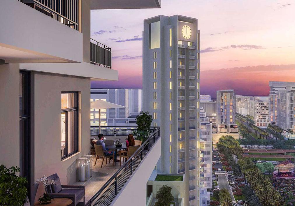 迪拜城市广场美丽的公寓